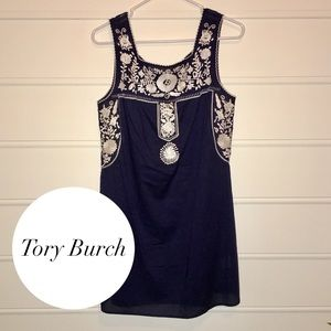 Tory Burch Amira Embroidered Sleeveless Coverup