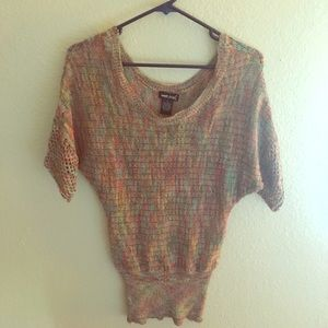 Multi color knit sweater WetSeal size S