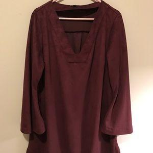 Plus size Suede mini dress