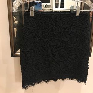 Dresses & Skirts - Lace black mini skirt