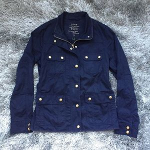 J. Crew navy blue Downtown Field jacket