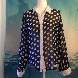 Tops - 3 for $10~Button Down Top 11