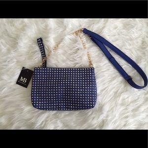 Melie Bianco Studded cross body purse