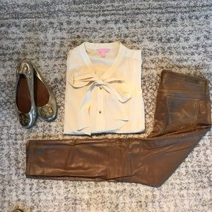 Lilly Pulitzer silk blouse!
