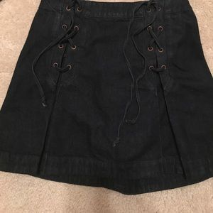 Free people! Dark blue denim skirt!!