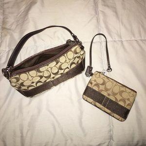 Coach small purse & coin purse