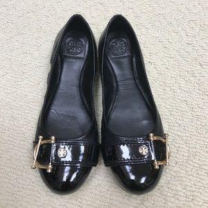 💛Tory Burch black leather flats💛