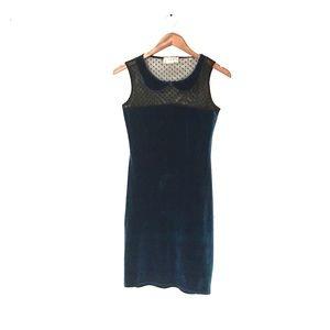Velvet Turquoise Dress