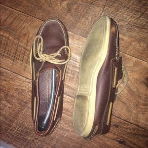 Sperry Top siders brown boat shoes