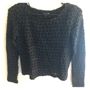 Navy knit sweater Forever 21 size S/P