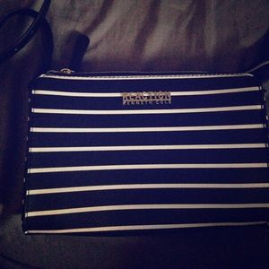 New black & white stripe Kenneth Cole  purse