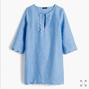 J. Crew Scalloped Tunic