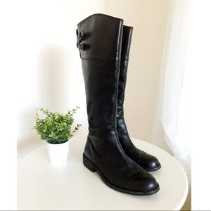 Black Vince Camuto Leather Boots