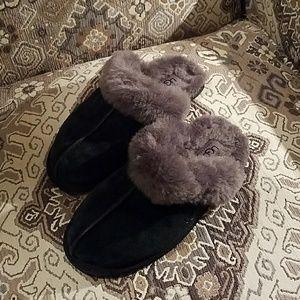 UGG slippers black suede