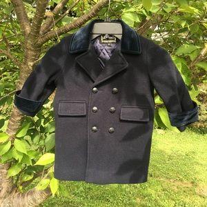 Rothschilds boys wool coat size 2T navy blue