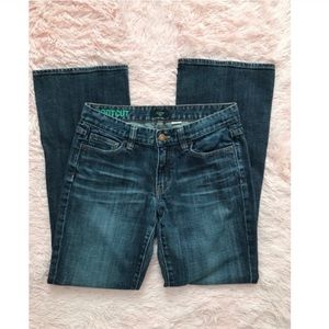 {J.Crew} bootcut dark blue denim jeans 28S