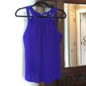 Express Purple Polyester and Rayon sleeveless top