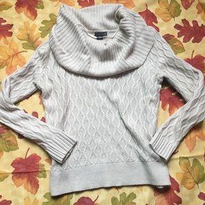 Cream Cowl Neck Sweater