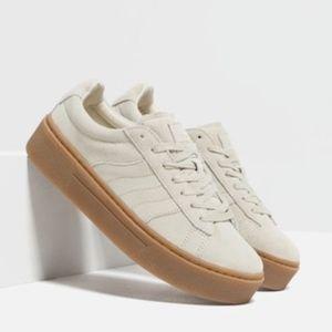 Zara Ecru Chunky Sneaker