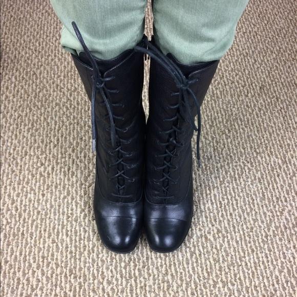 Born Crown Black Granny Boots | Poshmark
