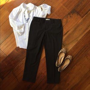 GAP Slim Cropped Black Pants EUC