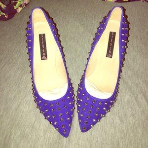 Electric Blue Steve Madden studded heels