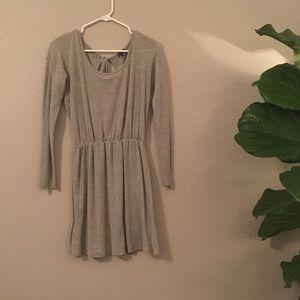 Sparkle & Fade Grey Long Sleeve Dress