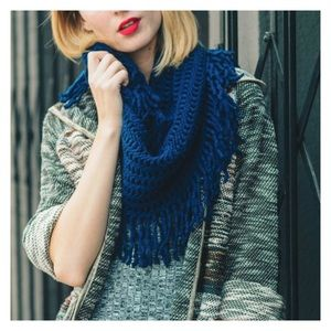 New Arrival- Navy Knit Infinity Scarf