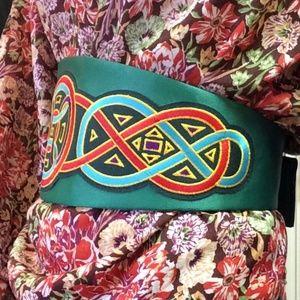Vintage Accessories - Celtic Ninja Knot Waist Belt Kelly