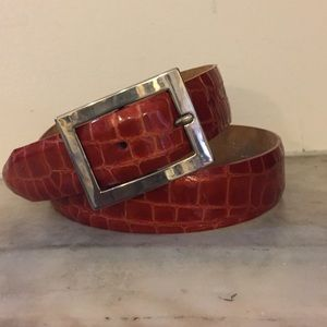 "Vintage Abaco Leather Belt 28"" 🇫🇷"