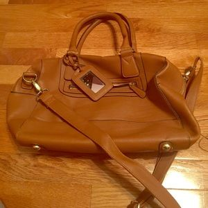 topshop tan super great vegan leather bag