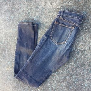 "J Brand Dark Blue Wash ""Clocker"" Skinny Jeans  25"