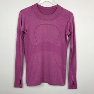 [Lululemon] Swiftly Tech Long Sleeve Shirt Pink 8