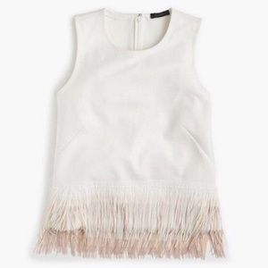 Jcrew fringe ivory and blush tank - size small