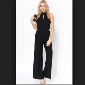 Sugarlips black halter jumpsuit