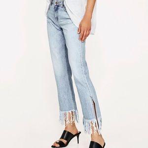 Fringe Zara Jeans, New W/O Tags