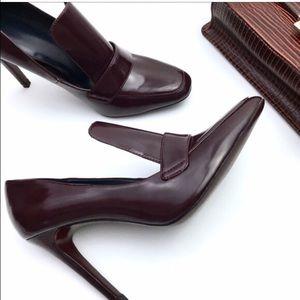 Zara Burgundy Loafer Heel