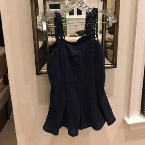 Dresses & Skirts - Navy blue romper purchased from urban outfitters