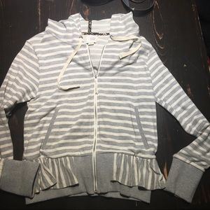Anthropology Saturday Sunday peplum zip up jacket
