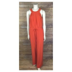 Emma F. Michele Orange Jumpsuit Size Medium M
