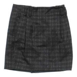 Merona Black &a White Pleated Skirt w/Pockets