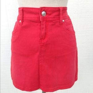Cache Cache Red Orange Brushed Cotton Skirt