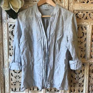 [H&M] soft fabric stripe shirt size 10