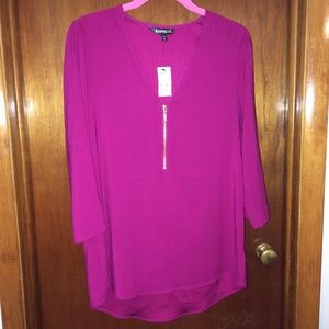 NWT Express High Low Tunic Top