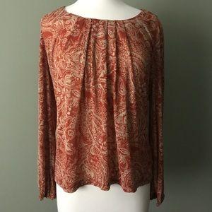 Jones New York Long Sleeved Fall Shirt Size Large