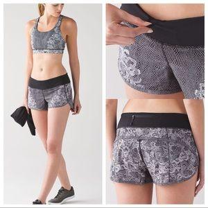 RARE NWOT Lululemon Florence Lace Speed Shorts!
