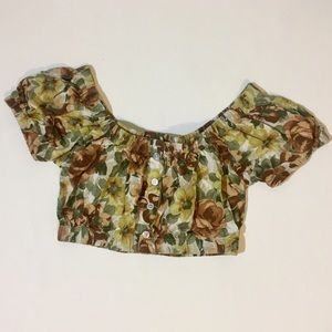 Urban outfitters crop tops floral
