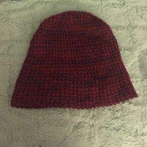 Red and blue beanie