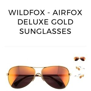 NEW WILDFOX GOLD SUNGLASSES 😎