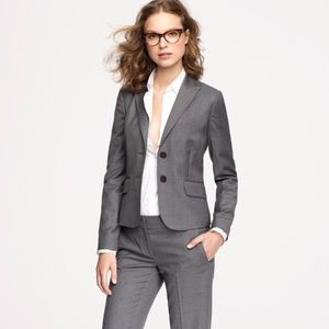 J.Crew Super 120s Wool Two Button Gray Blazer